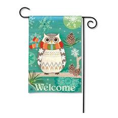 Winter Owl BreezeArt Garden Flag