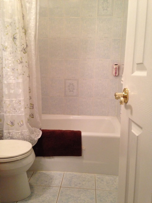 Bathroom Tile And Wall Colors what wall color would work with blue white bathroom tiles?