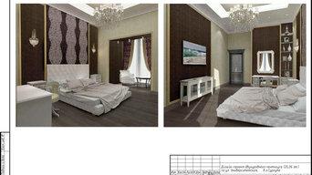Дизайн-проект частного пентхауса - спальня (Сургут)