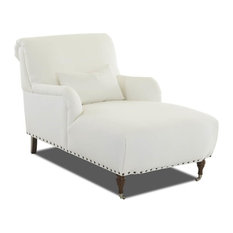 Upholstered Chaise Lounge in Natural