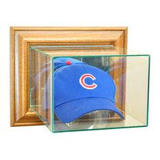 Wall Mounted Cap / Hat Display Case, Walnut