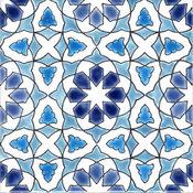 "7.87""x7.87"" Morisco C Moroccan Ceramic Tile, Set Of 10"