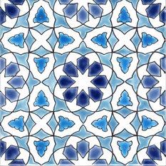 "7.87""x7.87"" Morisco C Moroccan Ceramic Tile"