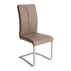 TOP AMBIENTES - Slice Dining Chair, Taupe - Dining Chairs