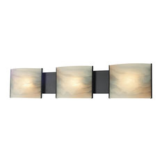 Alico   Pannelli 3 Light Vanity, Oil Rubbed Bronze And Honey Alabaster  Glass   Great Pictures