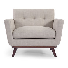 Kardiel   Jackie Midcentury Modern Classic Chair, Premium Fabric, Dove  Gray, Material: