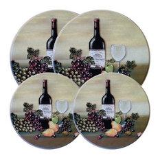 Reston Lloyd Wine and Vine, Burner Cover, Set of 4