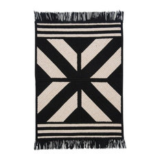 Colonial Mills, Inc - Contemporary Black Wool Rug, 8' Square, Sedona ED29 - Area Rugs