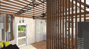 Дизайн-проект летнего домика в городе Чапаевск.
