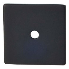 Top Knobs: Square Backplate 1 1/4 Inch - Flat Black