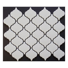 White Shiny Lantern Pattern Glazed Porcelain Mosaic Tile,Single sheet