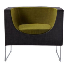 Modrest Tulane Contemporary Gray and Green Accent Chair