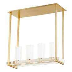 CYAN DESIGN ORION Pendant Small 4-Light Aged Brass Glass Iron