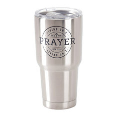Stainless Steel Cold Or Hot Cup Tumbler Living On A Prayer Stainless Steel  30Oz