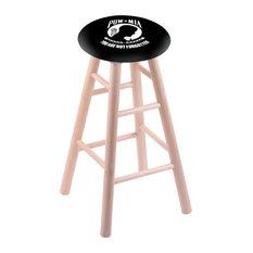 Maple Extra Tall Bar Stool Natural Finish With Pow/Mia Seat 36-inch