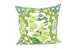 Canton in Green Pillow