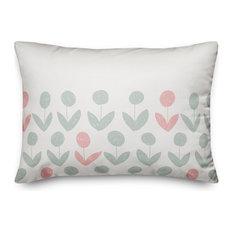 Modern Floral 14x20 Lumbar Pillow