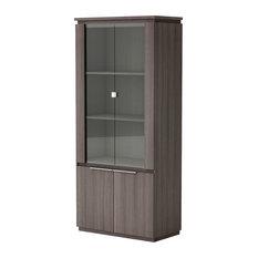 Origin Display Cabinet, Vulcano Oak, Traditional