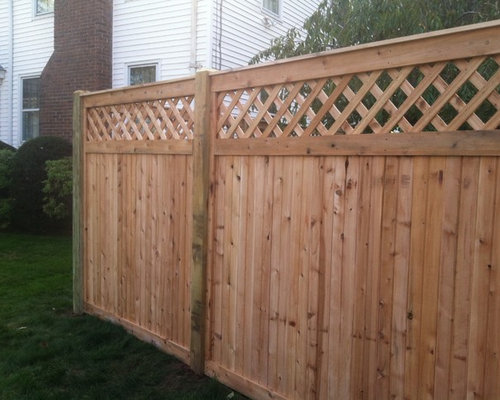 West Hartford Cedar Tongue Amp Groove Lattice Top Estate Fence