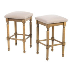 gdfstudio piogor counter stools set of 2 light taupe bar stools and