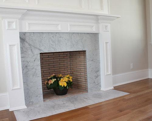 Carrara Marble Fireplace Houzz