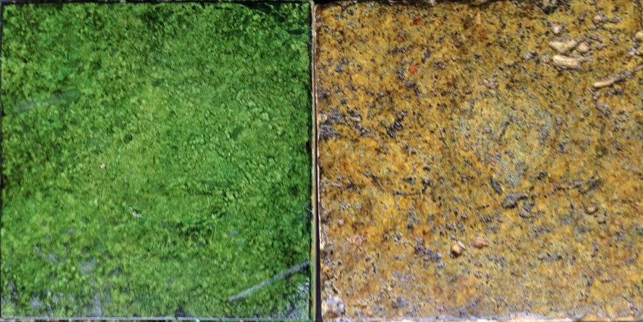 """Travertine Tiles - """"Meadow & Earthen """" Custim colors"""