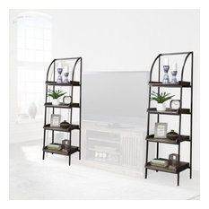 Parker House Gatehouse GAT250P Pair of Etagere Bookcase Piers, Washed Iron