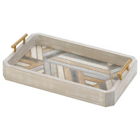 Montecito Wooden Large Decorative Tray by Nikki Chu
