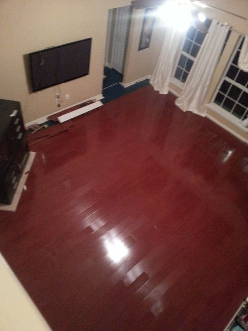 How Do I Tone Down These Dark Cherry Floors