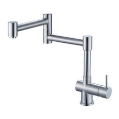 ALFI brand AB2038 Pullout Spray Kitchen Faucet - Stainless Steel