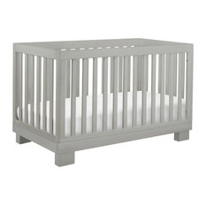 Modo 3-In-1 Convertible Crib With Toddler Bed Conversion Kit, Gray, Gray
