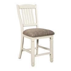 Bolanburg Upholstered Barstools Antique White Set Of 2