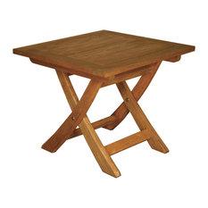 """Terrace Mates 20x20"""" Aspen Square Folding End Table"""