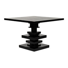 Noir Corum Hand Rubbed Black Square Table