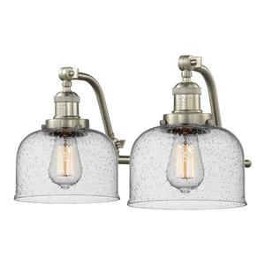 "Innovations Lighting 515-2W Large Bell Large Bell 2 Light 18"" Wide Bathroom Van"