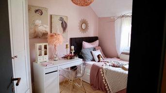 Rosé Chic Schlafzimmer