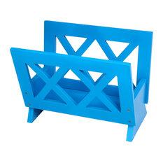 Contemporary Magazine Rack, Blue
