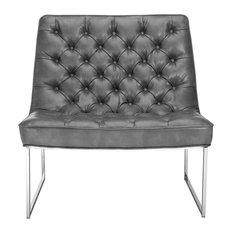 Toro Chair, Gray Leather