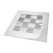 Geometric 6 Shower Drain, Polished Stainless Steel