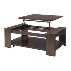 Progressive Furniture - Progressive Waverly Castered Lift Top Coffee Table, Vintage Walnut - Coffee Tables