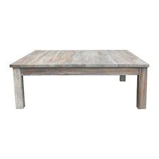 Chic Teak - Teak Gray Wash Rustic Coffee Table - Coffee Tables