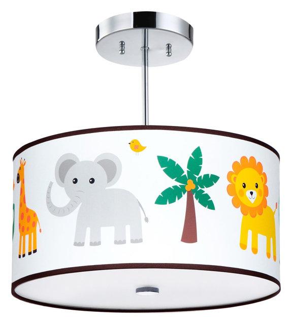 Kids ceiling lighting jungle animals light fixture