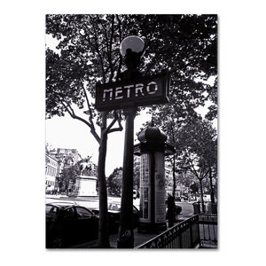 Le Metro As Art Canvas Art By Kathy Yates Traditional Prints And Posters By Trademark Global
