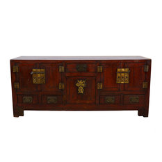 Marvelous Golden Treasures   Consigned Chinese Antique TianJin Long Coffee Table/TV  Stand 17LP43   Coffee