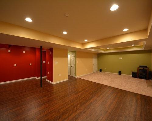 Basement Design Ideas Pictures Remodel Decor With Dark Hardwood Floor