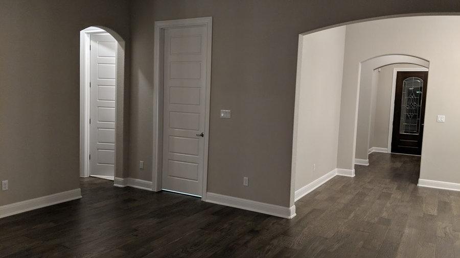 "6 1/2"" Wide engineered wood flooring"