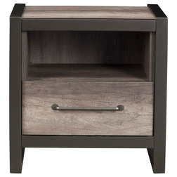 Industrial Nightstands And Bedside Tables by Alpine Furniture, Inc