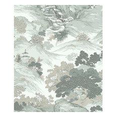 Ordos Light Green Eastern Toile Wallpaper Swatch