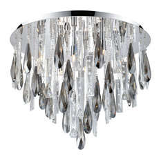 Ceiling Light With Chrome Finish and Clear Crystals
