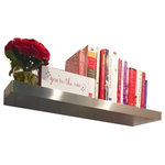 """Ponoma - 25""""x12""""x2.5"""" Brushed Stainless Steel Floating Shelf - The order of shelf 25x12x2.0 (cm.63,5x30,5x5,1) will take 1-3 days to process before shipping."""